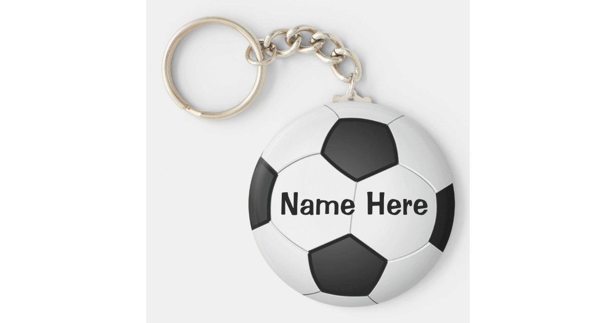 Personalisierte billige Fußball-Geschenke für Schlüsselanhänger | Zazzle
