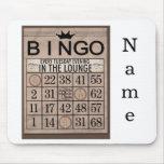 Personalisierte Bingo-Mausunterlage Mauspads