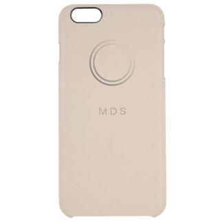 Personalisierte blasse GoldiPhone 6 Plusfall Durchsichtige iPhone 6 Plus Hülle
