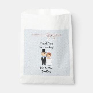Personalisierte blaue Braut-u. Geschenktütchen