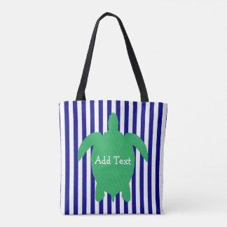 Personalisierte blaues und grünes tasche
