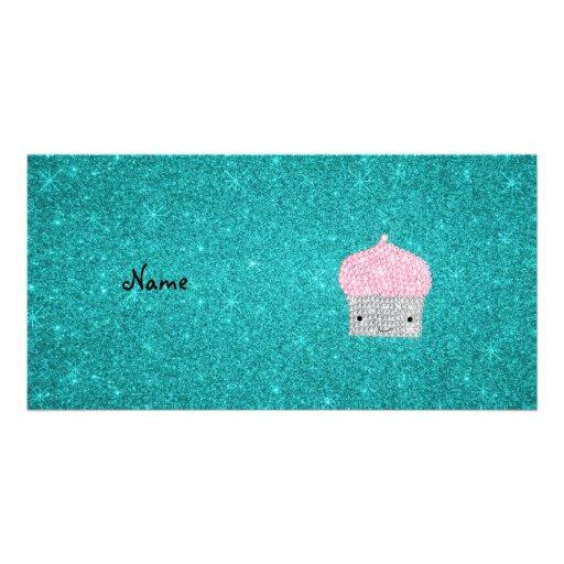 Personalisierte bling Kuchennamensdiamanten Individuelle Photo Karten