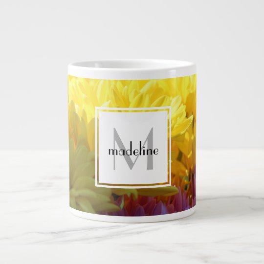 Personalisierte Blumen, färben Mamas, addieren Jumbo-Tasse