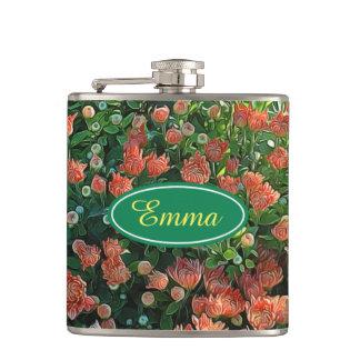 Personalisierte Blumen-Garten-Geheimnis-Flasche Flachmann