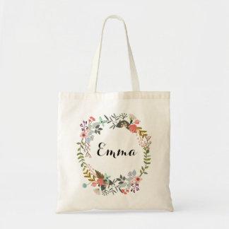 Personalisierte BlumenTaschen-Tasche Budget Stoffbeutel