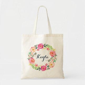 Personalisierte BlumenTaschen-Tasche Tragetasche
