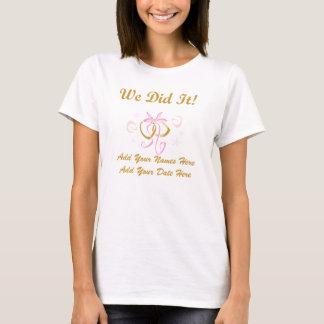 Personalisierte Braut taten wir es T-Shirt