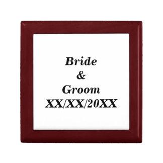 Personalisierte Braut und Bräutigam mit Datum Erinnerungskiste