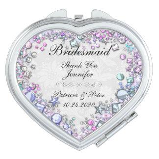 Personalisierte Brautjungfer Taschenspiegel