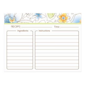 Personalisierte Brautparty-Rezept-Karte Postkarte