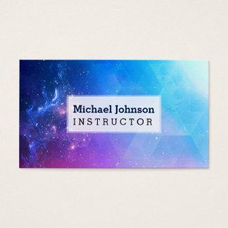 Personalisierte bunte abstrakte geometrische visitenkarten