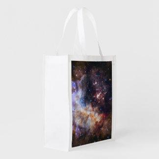 Personalisierte bunte Feuerwerke Hubble Wiederverwendbare Einkaufstasche