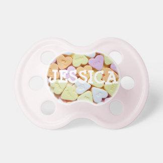 Personalisierte bunte Süßigkeits-einzigartiger Schnuller