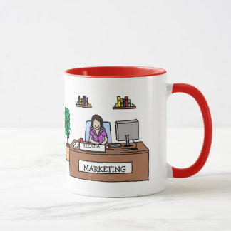 Personalisierte Cartoon-Tasse des Marketings-Gurus Tasse