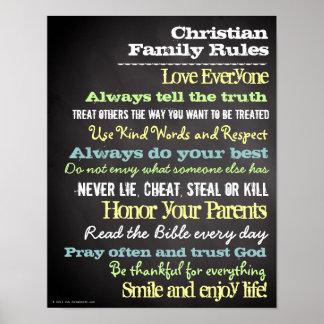 Personalisierte christliche Familie ordnet Haus-Ze Poster