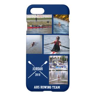 Personalisierte Crew-Rudersport-Ruder-Foto-Collage iPhone 8/7 Hülle