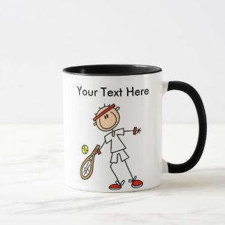 Personalisierte das Tennis-Geschenke der Männer Tasse