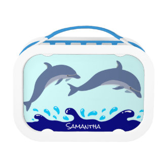 Personalisierte Delphine im Ozean Brotdose