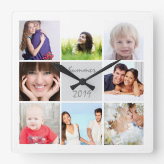 Personalisierte des Wand-Uhr-Familien-oder Paares Quadratische Wanduhr