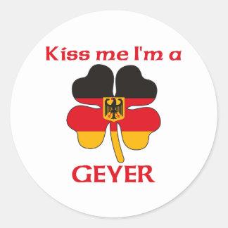 Personalisierte deutsche küssen mich, den ich runder sticker