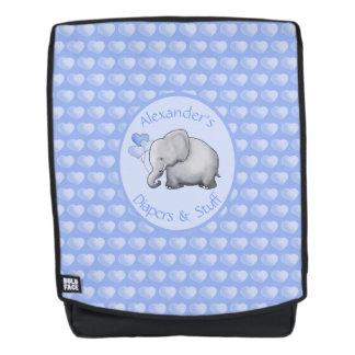 Personalisierte die Polka-Herz-Baby-Elefanten der Rucksack