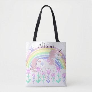 Personalisierte die Taschen-Tasche des Unicorn-u.