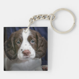 Personalized Double Sided Puppy Dog Pet Key chain