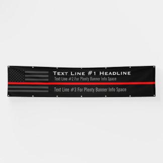 Personalisierte dünne rote Linie USA-Flaggen-lange Banner