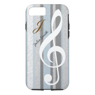 personalisierte elegante Musik des dreifachen Clef iPhone 8/7 Hülle