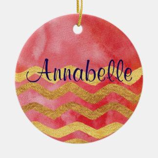 Personalisierte elegante Verzierung Keramik Ornament
