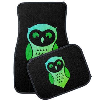 Personalisierte entzückende grüne Schrei-Eule Autofußmatte
