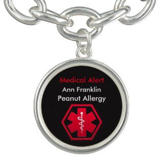 Personalisierte Erdnuss-Allergie-medizinischer Armbänder