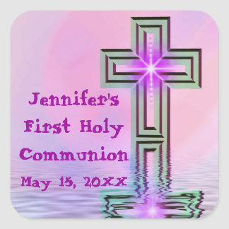Personalisierte erste heilige Kommunions-Aufkleber