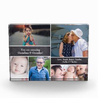 Personalisierte Familien-Collage mit Tafel Fotoblock