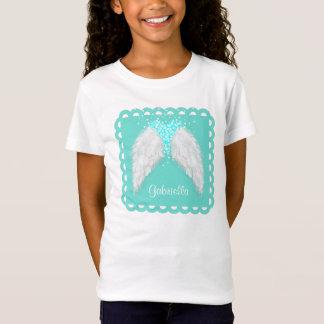 Personalisierte Feder-Engels-Flügel T-Shirt