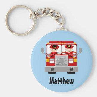Personalisierte Feuerwehrmann-und Schlüsselanhänger