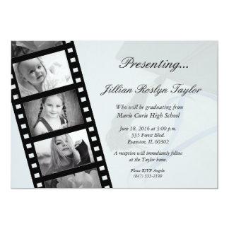 personalisierte Filmstreifen-Abschlusseinladung 12,7 X 17,8 Cm Einladungskarte