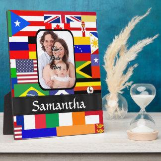Personalisierte Flaggen der Welt Fotoplatte