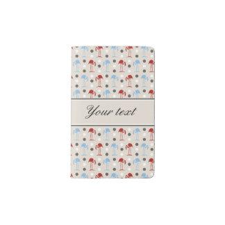Personalisierte Flamingos und Polka-Punkt-Muster Moleskine Taschennotizbuch