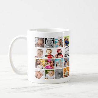 Personalisierte Foto-Collage machen Ihre Selbst Tasse