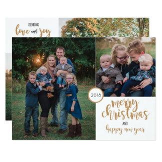 Personalisierte Foto-GoldGlitzer-Weihnachtskarte Karte