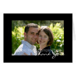 Personalisierte Foto-Hochzeit danken Ihnen Karten