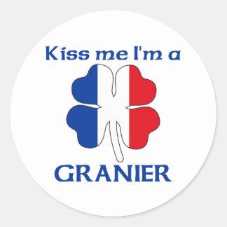 Personalisierte Franzosen küssen mich den ich Gra Aufkleber
