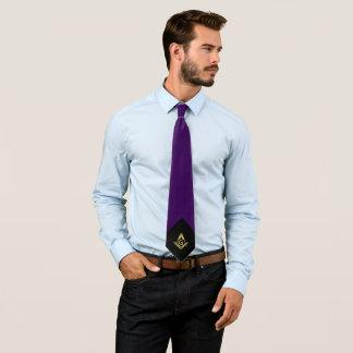 Personalisierte Freimaurerkrawatte | lila und Gold Krawatten