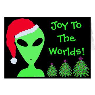 Personalisierte Freude Z LGM zum Weltweihnachten Mitteilungskarte