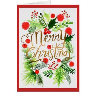 Personalisierte frohe Weihnacht-Gruß-Karte Karte
