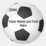 PERSONALISIERTE Fußball-Ball-Aufkleber NAME, JAHR,