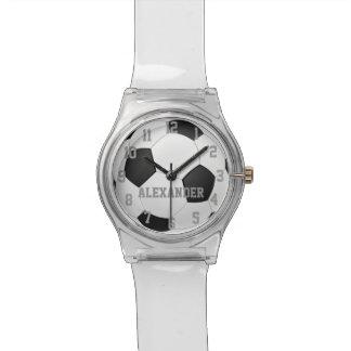Personalisierte Fußball-Ball-Sport-Uhr Armbanduhr