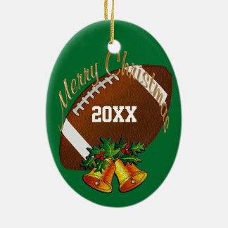 Personalisierte Fußball-Weihnachtsverzierung IHR Keramik Ornament