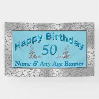 Personalisierte Geburtstags-Fahnen Ihr ALTER und Banner